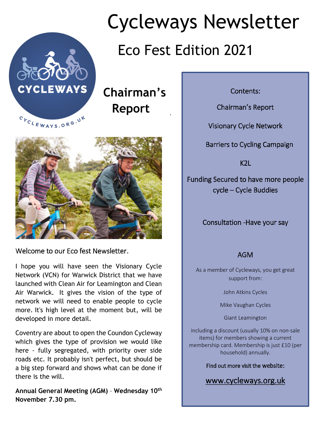 Cycleways Newsletter Eco fest 2021 V 1.1_page1